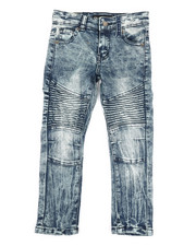 Boys - Stretch Moto Basic Jeans (4-7)-2332442