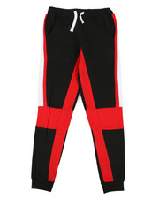 Bottoms - 2 Color Side Panel Fleece Joggers (8-20)-2329623