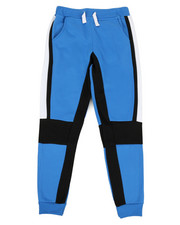 Bottoms - 2 Color Side Panel Fleece Joggers (8-20)-2329597