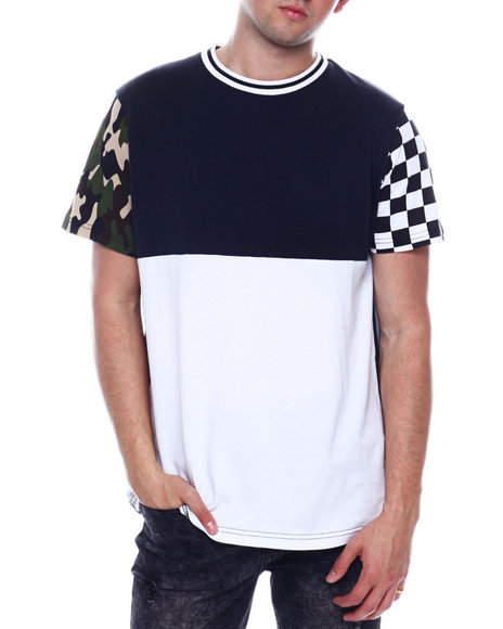 Buyers Picks - CAMO AND CHECKERBOARD COLORBLOCK TEE
