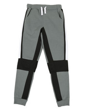 Bottoms - 2 Color Side Panel Fleece Joggers (8-20)-2329614