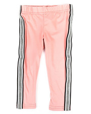 Bottoms - Solid Capri Leggings W/ Taping (2T-4T)-2332105