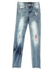Girls - Sequins Rip Jeans (7-16)-2329513