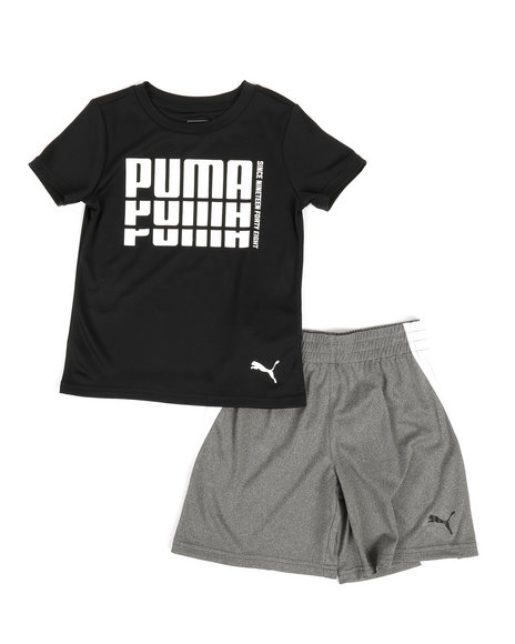 Puma - Poly Performance Tee & Shorts Set (4-7)