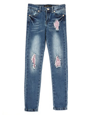 Girls - Sequins Rip Jeans (7-16)-2329534