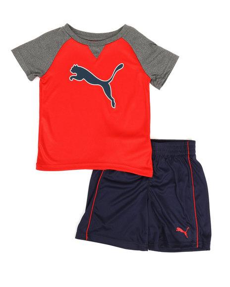 Puma - Poly Performance Tee & Shorts Set (4-7)