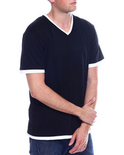 Buyers Picks - Mens Color Block Henley Shirt-2334630