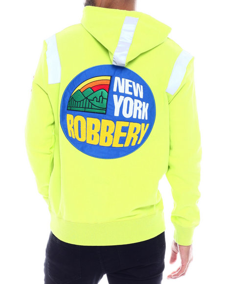 New York Robbery - Reflective tape Hoodie