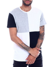 Buyers Picks - S/S Mens Cut & Sew Patchwork Crewneck T-Shirt-2335406