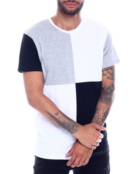 Buyers Picks - S/S Mens Cut & Sew Patchwork Crewneck T-Shirt