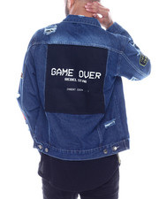 Denim Jackets - Game Over Denim Jacket-2334546