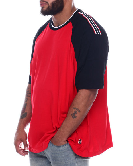 Akademiks - Outfield Taped Shoulder Raglan Tee (B&T)