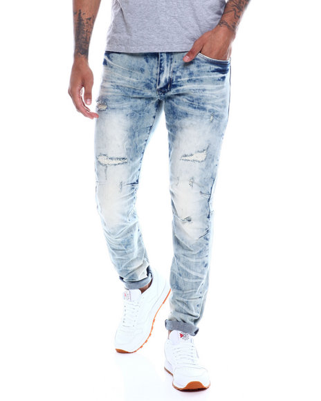 SMOKE RISE - Distressed Articulated Knee Jean