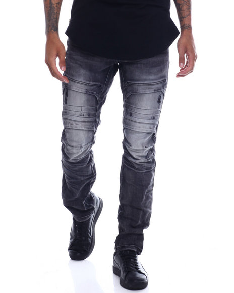 SMOKE RISE - Moto Articulated Knee Jean