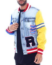 Denim Jackets - Varsity Denim Jacket-2334884