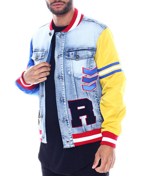 SMOKE RISE - Varsity Denim Jacket