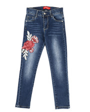 Girls - Stretch Embroidered Jeans (7-14)-2331689