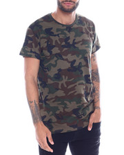 Shirts - S/S Mens Hi/Low Camo T-shirt-2335430