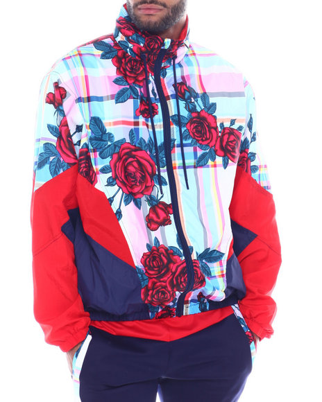 SMOKE RISE - Rose Plaid Nylon Jacket