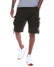 "Buyers Picks - Mens Garment Dyed Zip & ""D"" Ring Cargo Short-2334203"