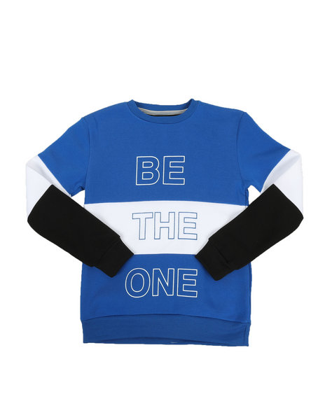Arcade Styles - Be The One Color Block Pullover Sweatshirt (8-18)