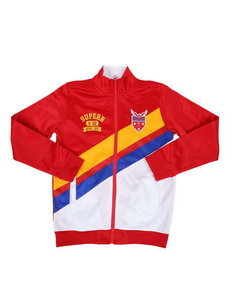 Arcade Styles - Poly Tricot Color Block Jacket (8-20)