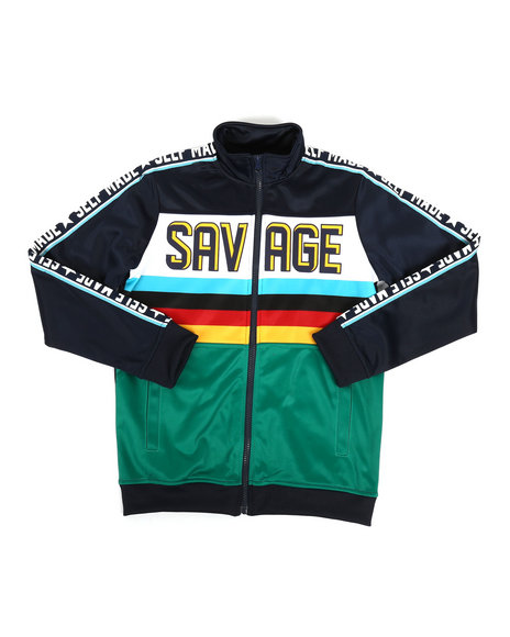 Arcade Styles - Poly Tricot Multi Color Jacket (8-20)