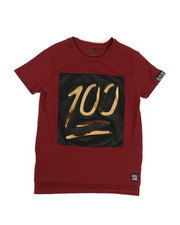 Boys - Embossed Metallic Crew Neck Tee (8-20)-2331722