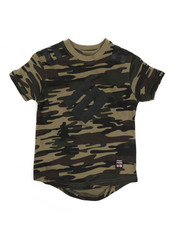 Boys - Camo Print Scoop Bottom Tee (4-7)-2331727