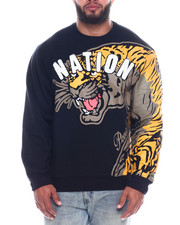 Parish - Mens Tiger Print Pullover (B&T)-2335571