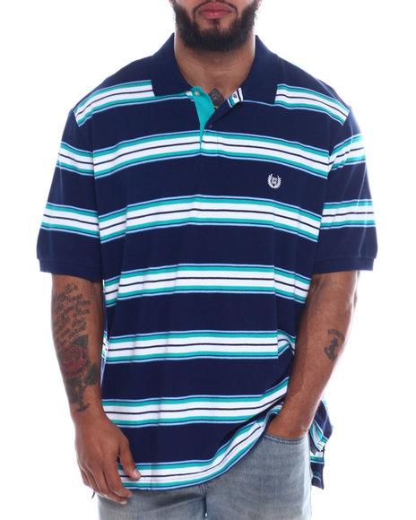 Chaps - Stripe Cotton Polo (B&T)