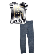 Girls - Striped Top & Legging Set (4-6X)-2330447