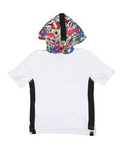 NOTHIN' BUT NET - Slub Cotton Hoodie W/ Graphic Print (8-20)-2330473