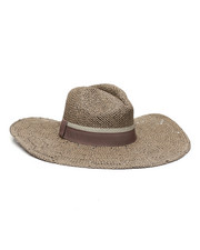 Fashion Lab - Open Weave Wide Brim Panama Hat-2335773