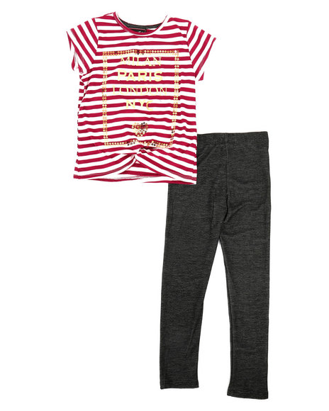 La Galleria - Striped Top & Legging Set (4-6X)