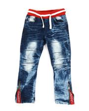 Boys - Pull On Rib Jeans (4-7)-2333969