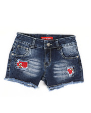 Girls - Embroidered Shorts (7-14)-2334324