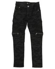 Bottoms - Camo Denim Jeans W/ Zipper Detail (4-7)-2338444