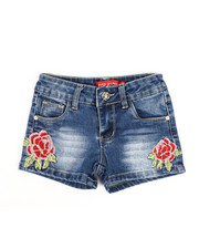 Girls - Embroidered Shorts (2T-4T)-2334289