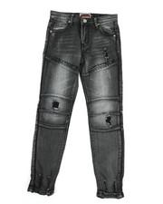 Bottoms - Knee Cut Moto Denim Jeans (8-20)-2333995