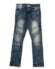 Bottoms - Stretch Moto Jeans (8-20)-2333988
