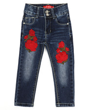 Jeans - Stretch Embroidered Jeans (2T-4T)-2334347