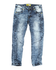 Bottoms - Ribbed Moto Stretch Jeans (8-20)-2337319