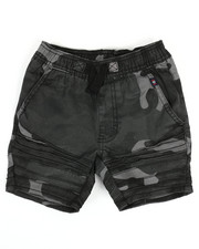 Phat Farm - Camo Print Moto Shorts (4-7)-2335106