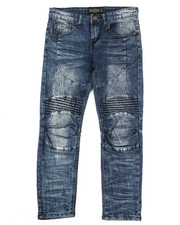 Bottoms - Ribbed Moto Stretch Jeans (8-20)-2337286