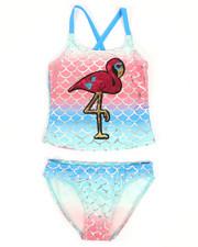 Swimwear - Flamingo Two-Piece Swimsuit (7-16)-2336937