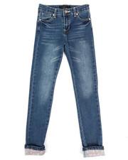 Girls - Stretch Cuffed Hearts Jeans (7-16)-2335128