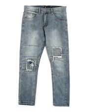 Bottoms - Moto Twill Jeans w/ Patch detail (8-20)-2335193