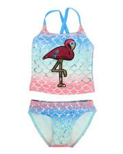 Swimwear - Flamingo Two-Piece Swimsuit (4-6X)-2337405