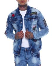 Denim Jackets - Rose Embroidered Denim Jacket-2337909